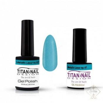 S-Nails - Titan Nail Design UV/LED gel lak za nohte - steklenica  Metalic Lazur (no. 67)