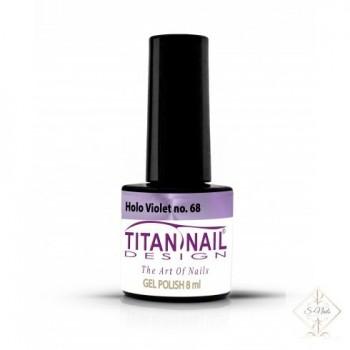 S-Nails - Titan Nail Design UV/LED gel lak za nohte - steklenica  Holo Violet (no. 68)