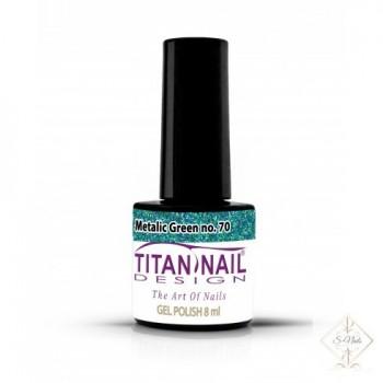 S-Nails - Titan Nail Design UV/LED gel lak za nohte - steklenica  Metalic Green (no. 70)