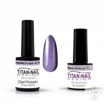 S-Nails - Titan Nail Design UV/LED gel lak za nohte - steklenica  Metalic Purpur (no. 77)