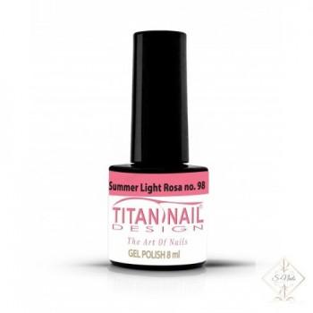 S-Nails - Titan Nail Design UV/LED gel lak za nohte - steklenica  Summer Light Rosa (no. 98)