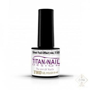S-Nails - Titan Nail Design UV/LED gel lak za nohte - steklenica Silver Foil (no. 150)