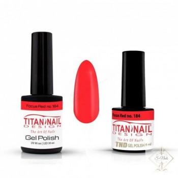 S-Nails - Titan Nail Design UV/LED gel lak za nohte  steklenica - Focus Red (no. 184)