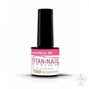 S-Nails - Titan Nail Design UV/LED gel lak za nohte  steklenica - Sweety Pink (no. 205)