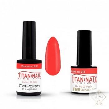 S-Nails - Titan Nail Design UV/LED gel lak za nohte  steklenica - Scarlet (no. 212)