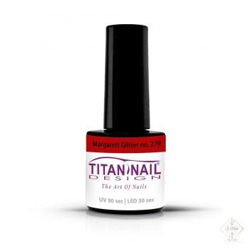 S-Nails - Titan Nail Design UV/LED gel lak za nohte  steklenica - Margarett Glitter (no. 279)