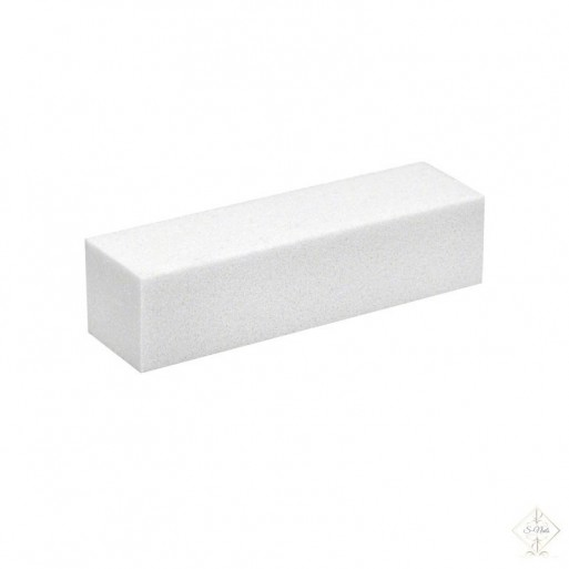 S-Nails - Polirna blok gobica za nohte - bela
