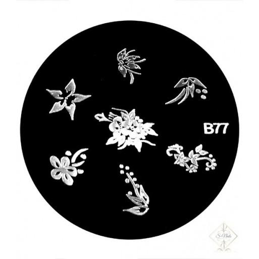 S-Nails - Šablona za štempiljke št. 77