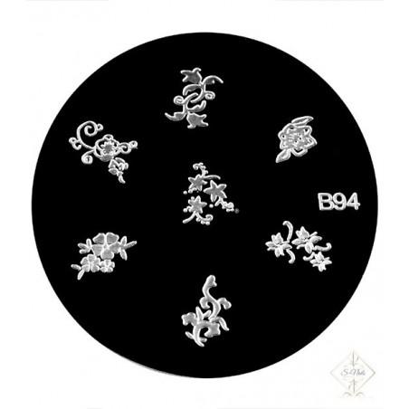 S-Nails - Šablona za štempiljke št. 94