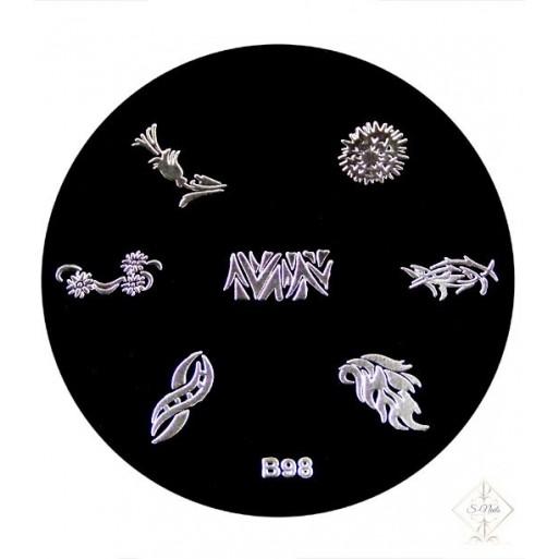 S-Nails - Šablona za štempiljke št. 98