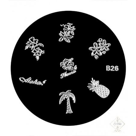 S-Nails - Šablona za štempiljke št. 26