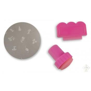 S-Nails - Stamping set - ploščica + štempiljka