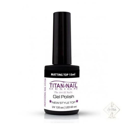 S-Nails - Titan Nail Design UV/LED gel lak za nohte  steklenica - Mat Top coat