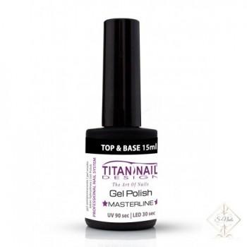 S-Nails - Titan Nail Design UV/LED gel lak za nohte  steklenica - 2IN1 BASE&TOP coat