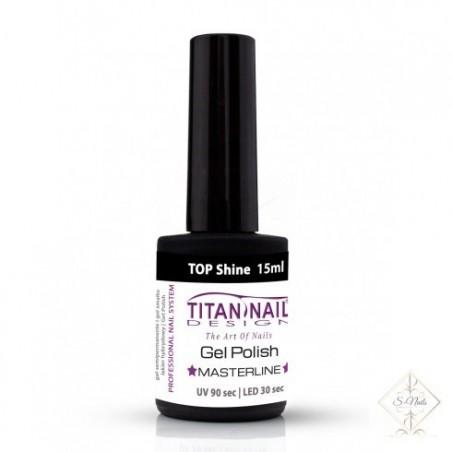 S-Nails - Titan Nail Design UV/LED gel lak za nohte  steklenica - Shine TOP coat