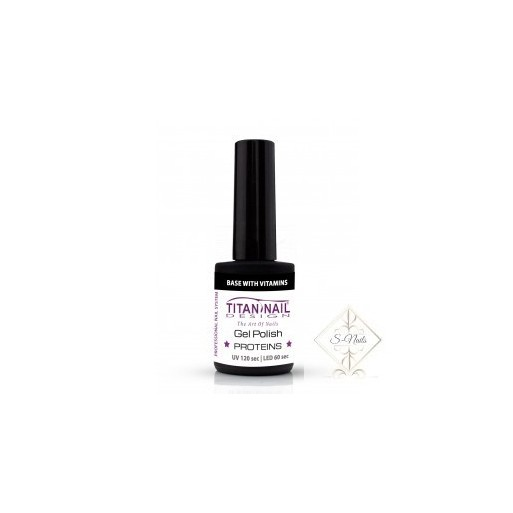 S-Nails - Titan Nail Design UV/LED gel lak za nohte  steklenica - Base coat z vitamini