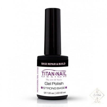S-Nails - Titan Nail Design UV/LED gel lak za nohte  steklenica - Base Pink Strong & Repair