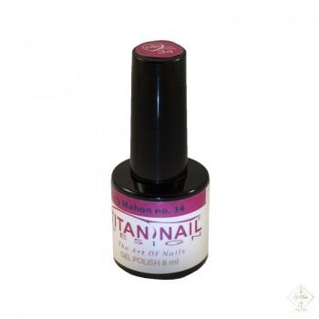 S-Nails - Titan Nail Design UV/LED gel lak za nohte - steklenica  Cherry Mahon (no. 34)