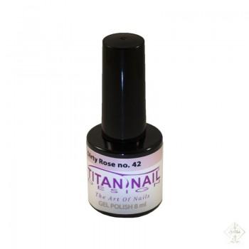 S-Nails - Titan Nail Design UV/LED gel lak za nohte - steklenica  Dirty Rose (no. 42)