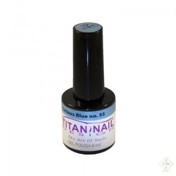 S-Nails - Titan Nail Design UV/LED gel lak za nohte - steklenica  Curious Blue (no. 55)