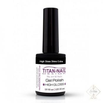 S-Nails - Titan Nail Design UV/LED gel lak za nohte  steklenica - HIGH GLOSS SHINE TOP - NO WIPE