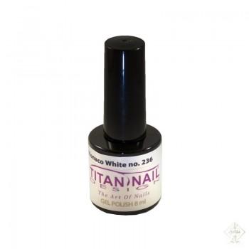 S-Nails - Titan Nail Design UV/LED gel lak za nohte  steklenica - Monaco White (no. 236)