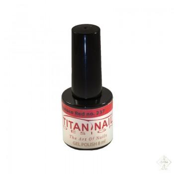 S-Nails - Titan Nail Design UV/LED gel lak za nohte  steklenica - Monaco Red (no. 237)