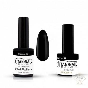 S-Nails - Titan Nail Design UV/LED gel lak za nohte - steklenica  Black (no. 22)
