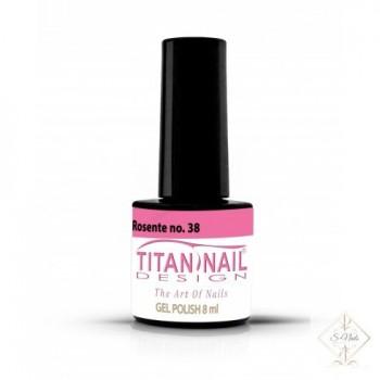 S-Nails - Titan Nail Design UV/LED gel lak za nohte - steklenica  Rosente (no. 38)